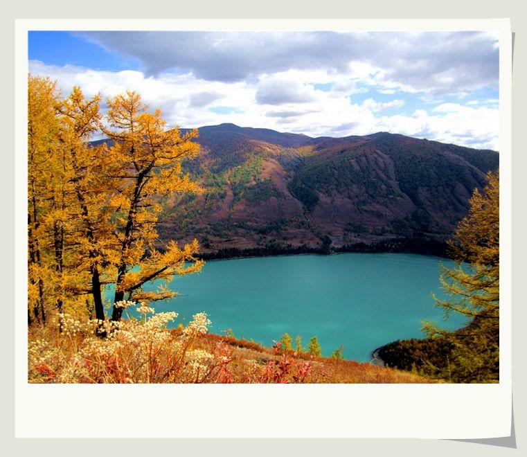 新疆风景图画绘画
